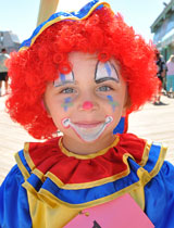 photo:  Young clown