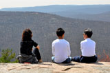 photo:  Visitors at Bear Mountain