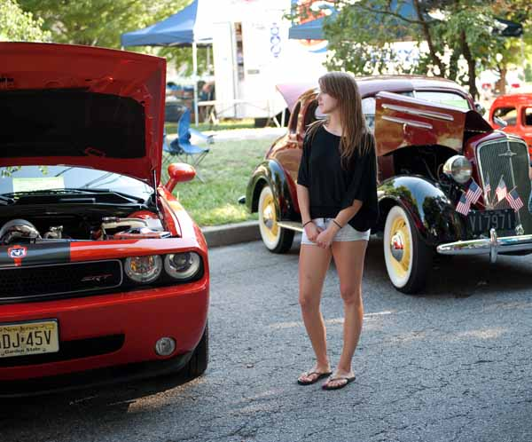 photo:  Cute girl at car show