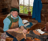 photo:  Shoemaker at Sturbridge Villge