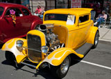 photo:  yellow hot rod