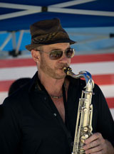 photo:  Tenor sax player