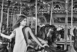 photo:  beautiful model on carousel